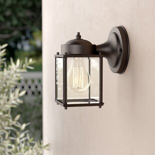 Compare prices Steward 1-Light Outdoor Wall Lantern By Charlton Home
