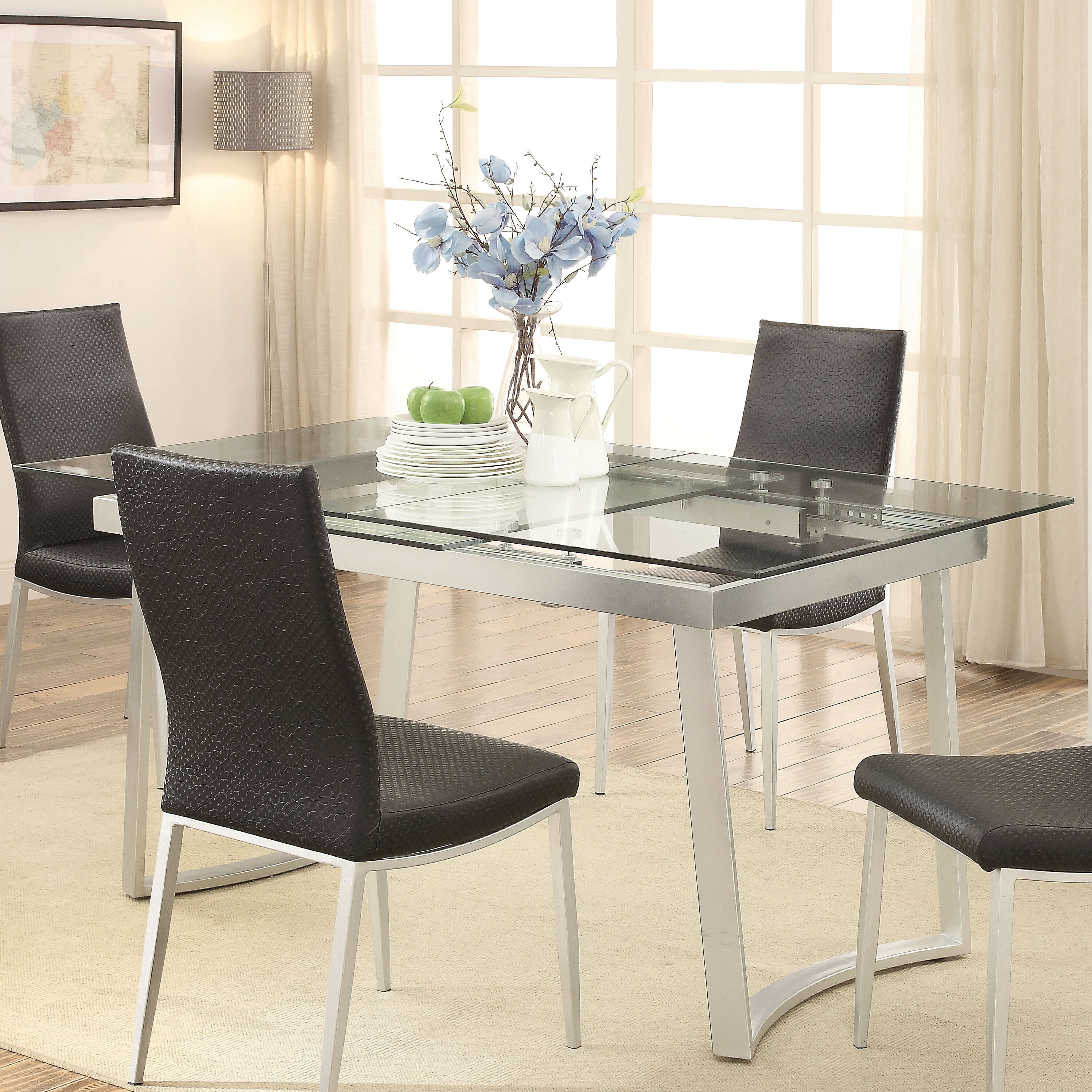 Wrought studio stone street extendable dining table wayfair
