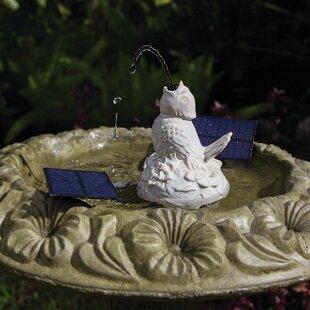 Pond Boss Solar Birdbath F..