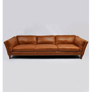 Coyer Vintage Couch Genuine Leather Sofa