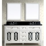 Mandeville 61 Double Vanity Set with Mirror by George Oliver