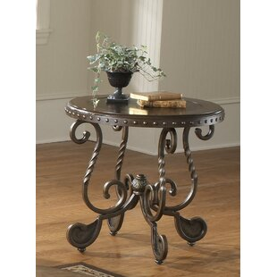 Vega Metal Etched End Table