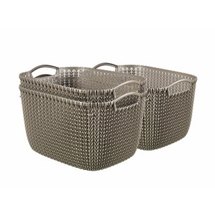 Plastic 3 Piece Basket Set (Set Of 3) By Curver UK Ltd