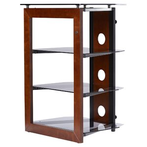 Latitude Run Modern & Contemporary Wood Audio Rack