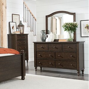 Schneider 7 Drawer Double Dresser with Mirror by Darby Home Co
