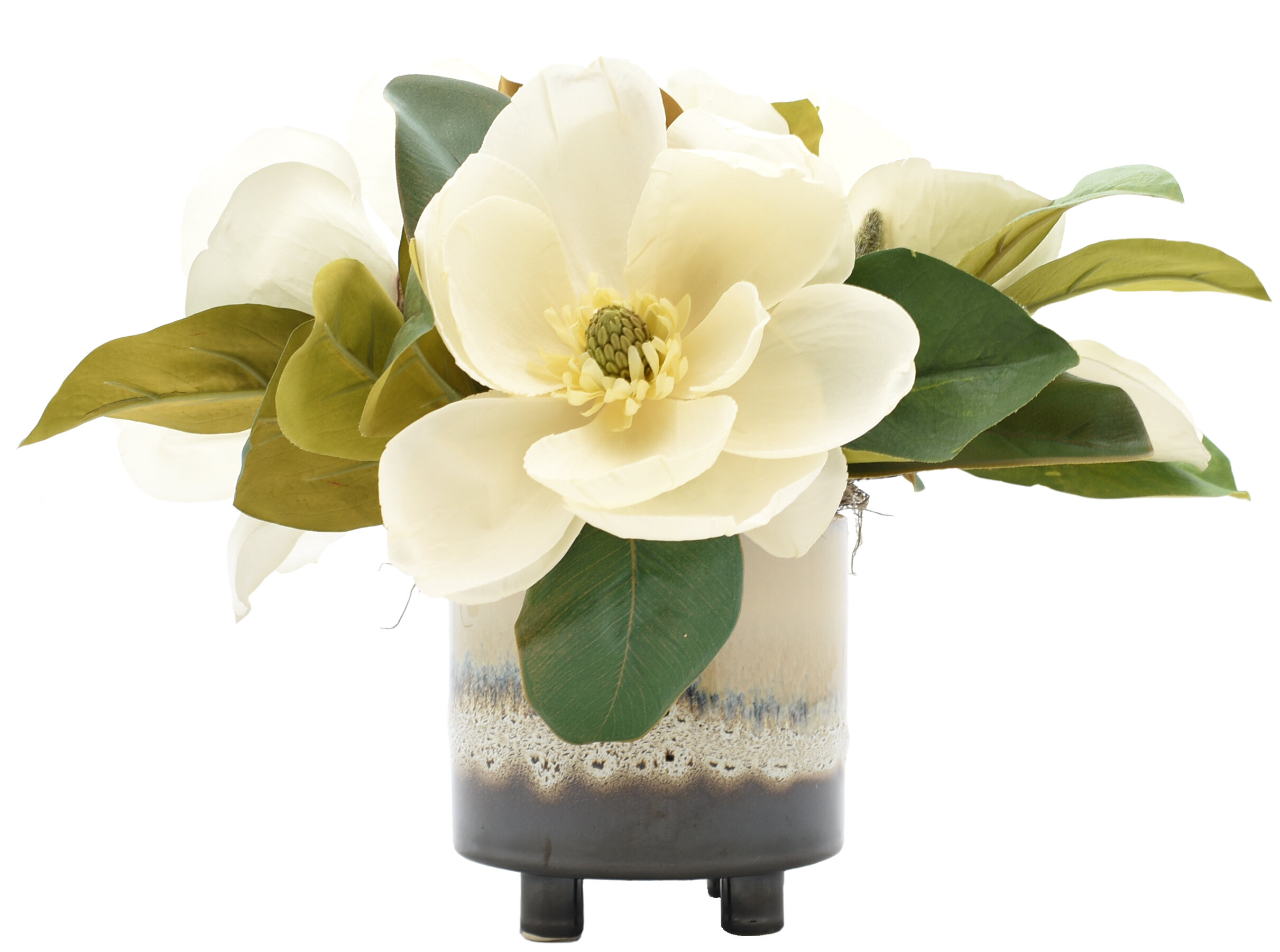 Gracie Oaks Magnolia Floral Arrangement And Centerpiece In Pot Reviews Wayfair