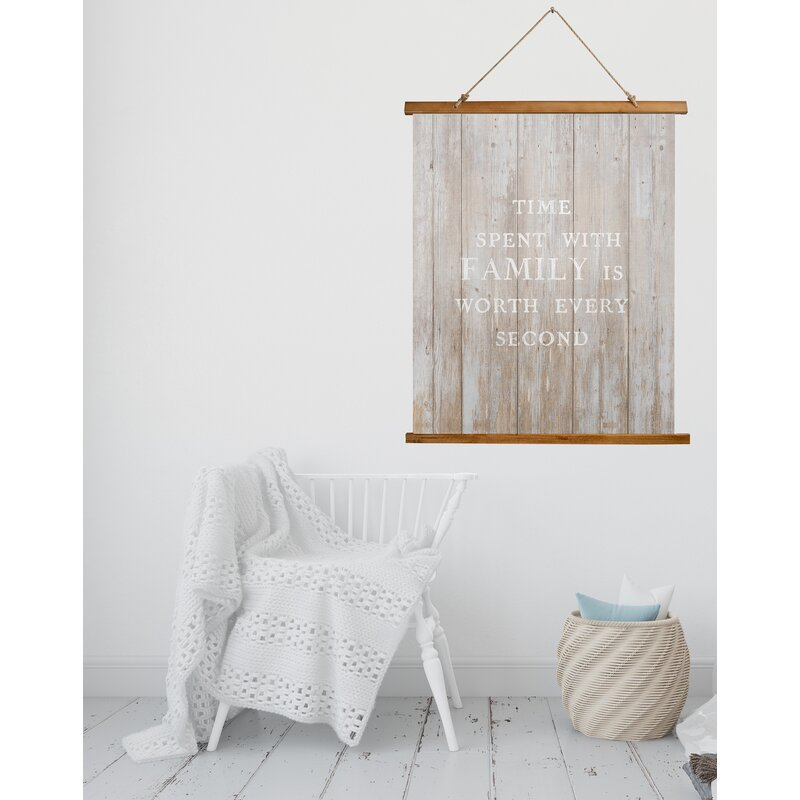 Red Barrel Studio Microfiber Time Spent With Family Scroll Tapestry