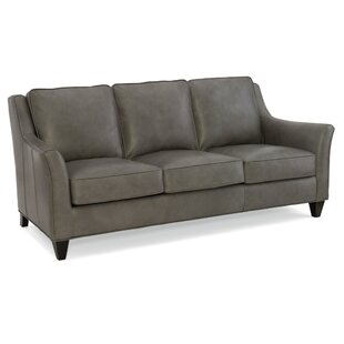 Barnes Leather Sofa by Bradington-Young