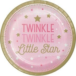 Twinkle Twinkle Little Star Disposable Dinner Plate (Set of 8)