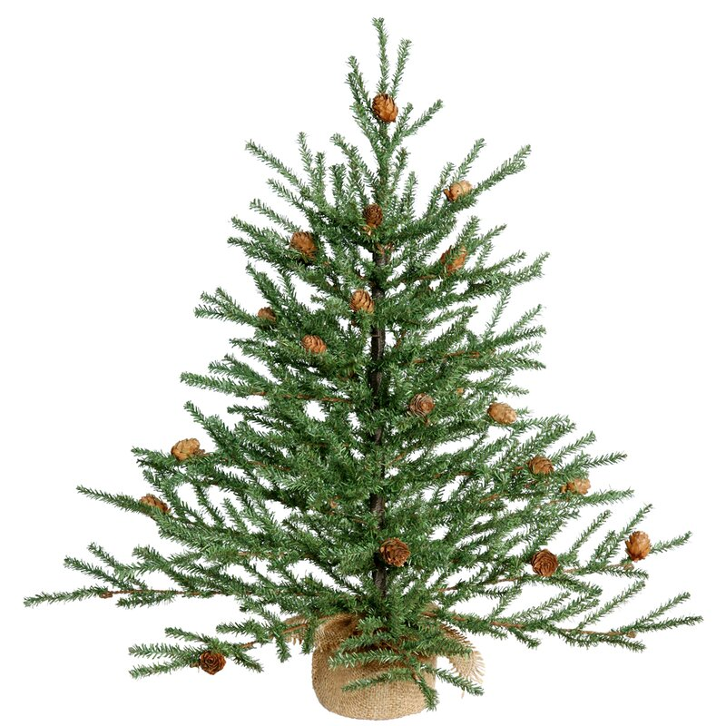 green pine tree artificial christmas tree with potted stand