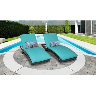 Medley Sun Lounger Set with Cushion (Set of 2)