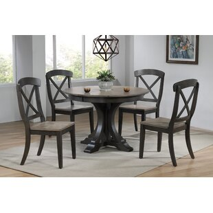 Melanie 5 Piece Extendable Solid Wood Dining Set by Alcott Hill 2019 Sale