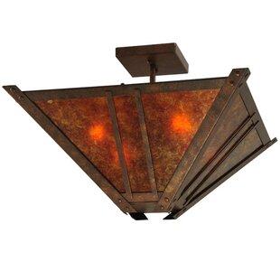 Meyda Tiffany Arta 4-Light Semi-Flush Mount
