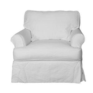 Coral Gables Cotton Armchair SlipcoverBeachcrest Home Slipcovers You ll Love   Wayfair. Gray Armchair Slipcover. Home Design Ideas