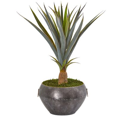 17 Stories Artificial Agave Plant in Planter