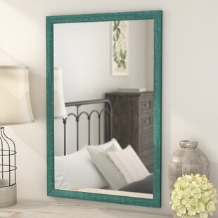 Find the perfect Cottage Aqua Framed Wall Mirror By August Grove