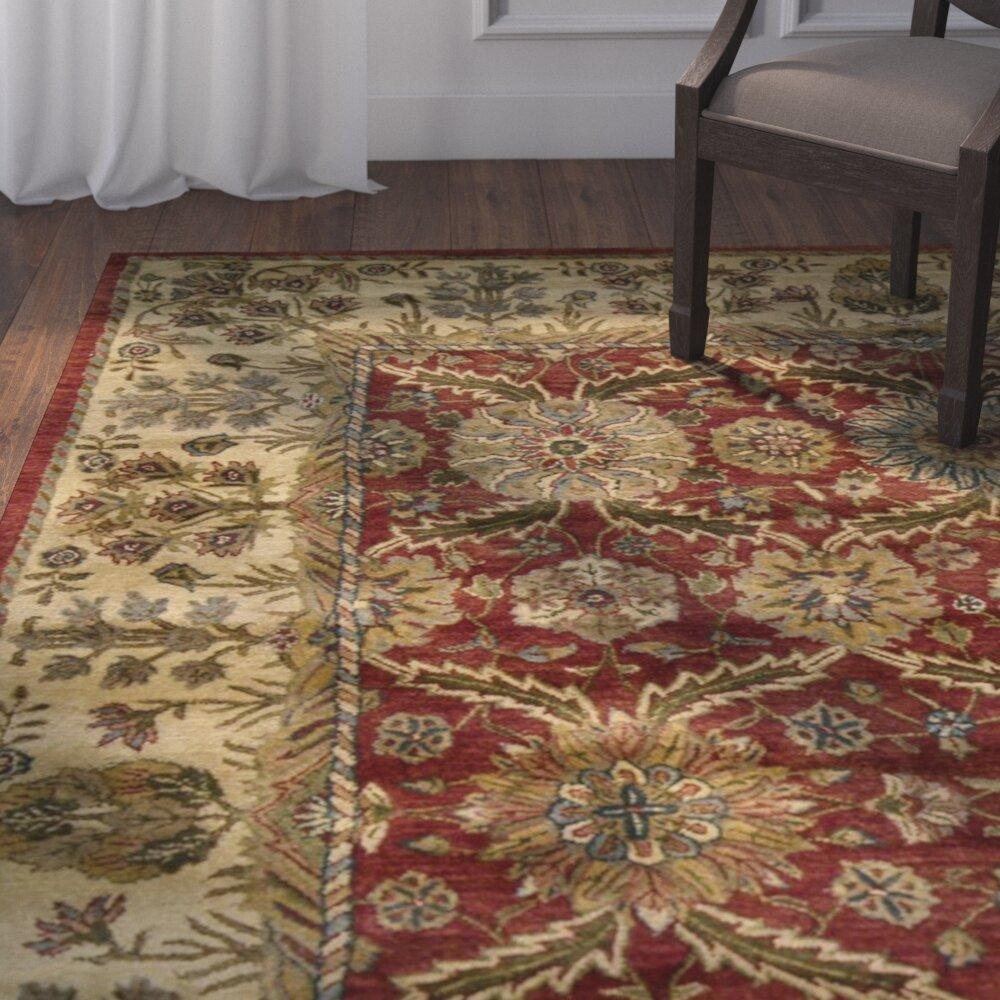 Astoria Grand Bassham Hand Tufted Wool Red Area Rug Reviews Wayfair