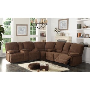 Kevin Reclining Sectional  sc 1 st  Wayfair : brown reclining sectional - Sectionals, Sofas & Couches
