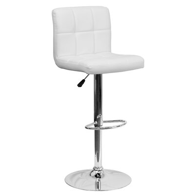 Phenomenal Zipcode Design Hirano Adjustable Height Swivel Bar Stool Ncnpc Chair Design For Home Ncnpcorg