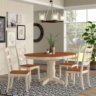 Chretien Transitional 5 Piece Solid Wood ..