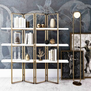 Pam Concrete Library Bookcase by Everly Quinn