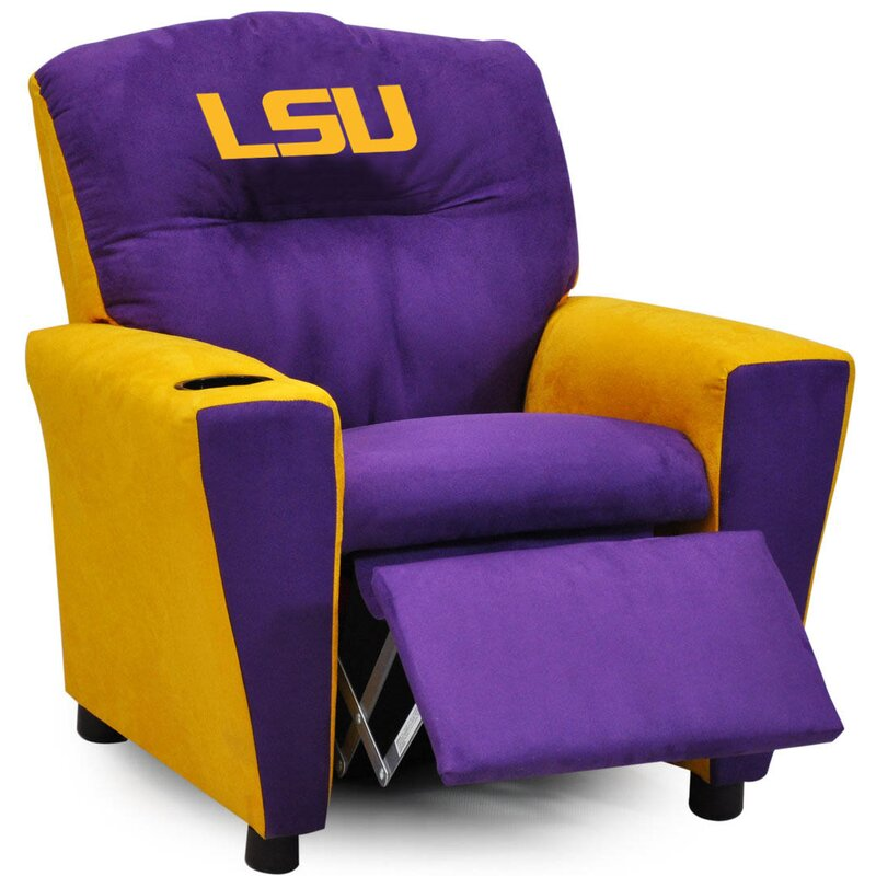 Kidzworld All American Collegiate Kids Recliner With Cup Holder