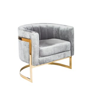 Statements by J Mica Gold Barrel Chair