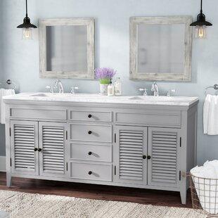 Where buy  Grovetown 72 2 Double Bathroom Vanity Set ByLaurel Foundry Modern Farmhouse