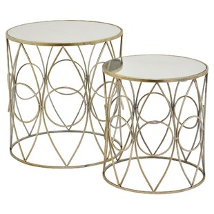 Jaxxon 2 Piece Nesting Tables (Set of 2) by Everly Quinn