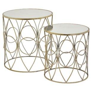 Jaxxon 2 Piece Nesting Tables (Set of 2) by Everly Quinn