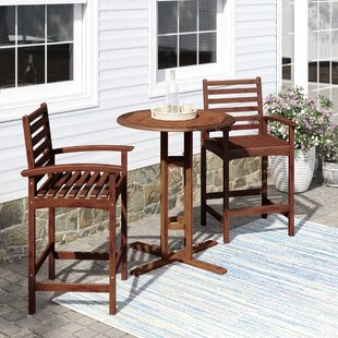 Maisie 3 Piece Bar Height Dining Set