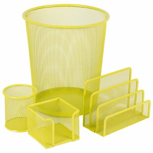 Mesh Desk Organiser Set (Set Of 4) By Symple Stuff