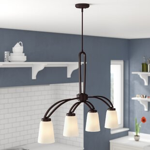 Compare prices Casias 4-Light Kitchen Island Pendant By Andover Mills