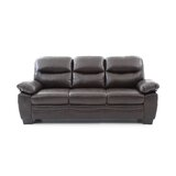 Mcnabb 78 Wide Faux Leather Pillow Top Arm Sofa by Red Barrel Studio®
