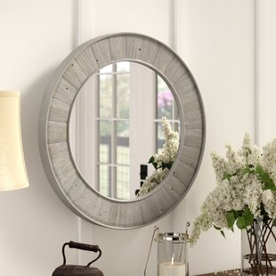 Great choice Clemmie Round Gray Wall Mirror By Laurel Foundry Modern Farmhouse