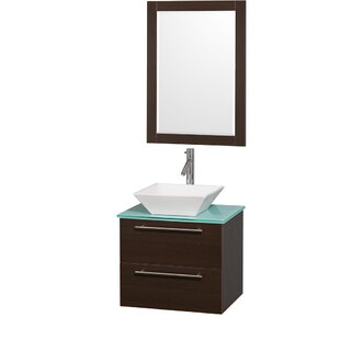 Bargain Amare 24 Single Espresso Bathroom Vanity Set with Mirror By Wyndham Collection