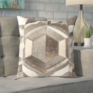 Dark Brown Leather Pillows   Wayfair