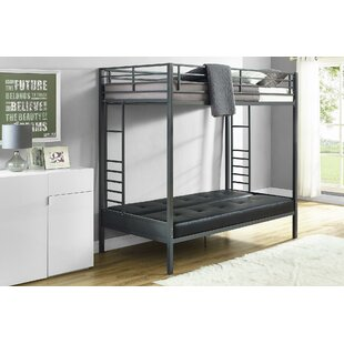 Great Price Kaytlynn Twin Over Futon Bunk Bed by Harriet Bee Reviews (2019) & Buyer's Guide