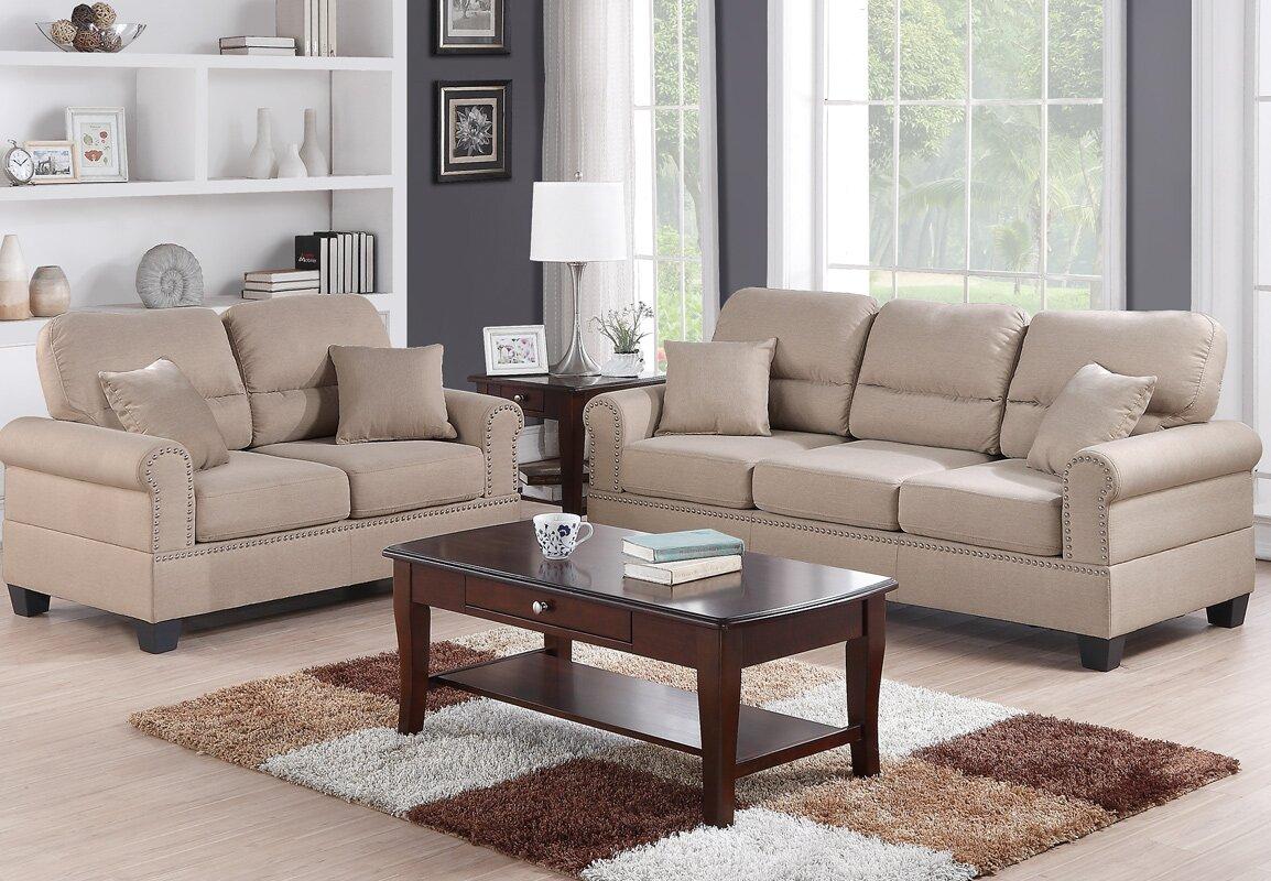 Charlton Home Boyster 2 Piece Living Room Set & Reviews   Wayfair