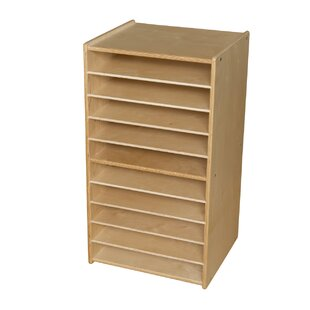 Savings Paper and Puzzle 10 Compartment Cubby with Casters By Wood Designs
