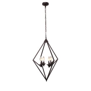 Wrought Studio Carrigan Transitional 4-Light Novelty Pendant