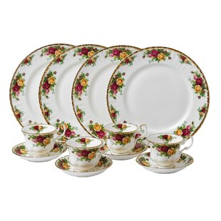 Old Country Roses Bone China 12 Piece Dinnerware Set Service for 4  sc 1 st  Wayfair & Bone China Dinnerware Sets You\u0027ll Love | Wayfair