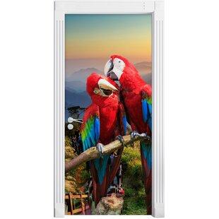 Parrot Couple Door Sticker By East Urban Home
