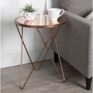 Skip Round Metal End Table