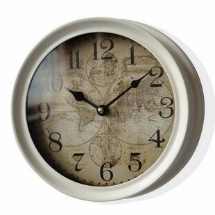 World map clock wayfair hewes world map globe 875 wall clock gumiabroncs Image collections