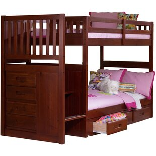 Harriet Bee Eidson Twin over Twin Bunk Bed with Staircase and Trundle
