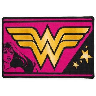 Find DC Comics Wonder Woman Soft Pink/Yellow Area Rug ByDelta Children