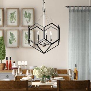 Edna 5-Light Geometric Chandelier by Wrought Studio