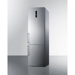 Summit 12.8 Cu. Ft. Counter Depth Bottom Freezer Refrigerator with Icemaker by Summit Appliance