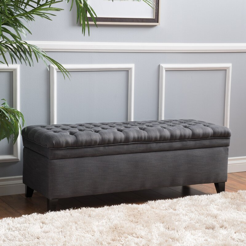 Alcott Hill Logan Tufted Storage Ottoman Reviews Wayfair